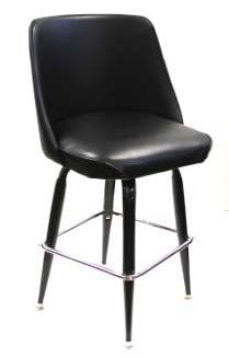 #104-24/BUCKET 24in High Square Frame Bar Stool with Bucket Seat