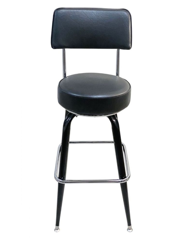 #104-24/BACK 24in High Square Frame Bar Stool with Back