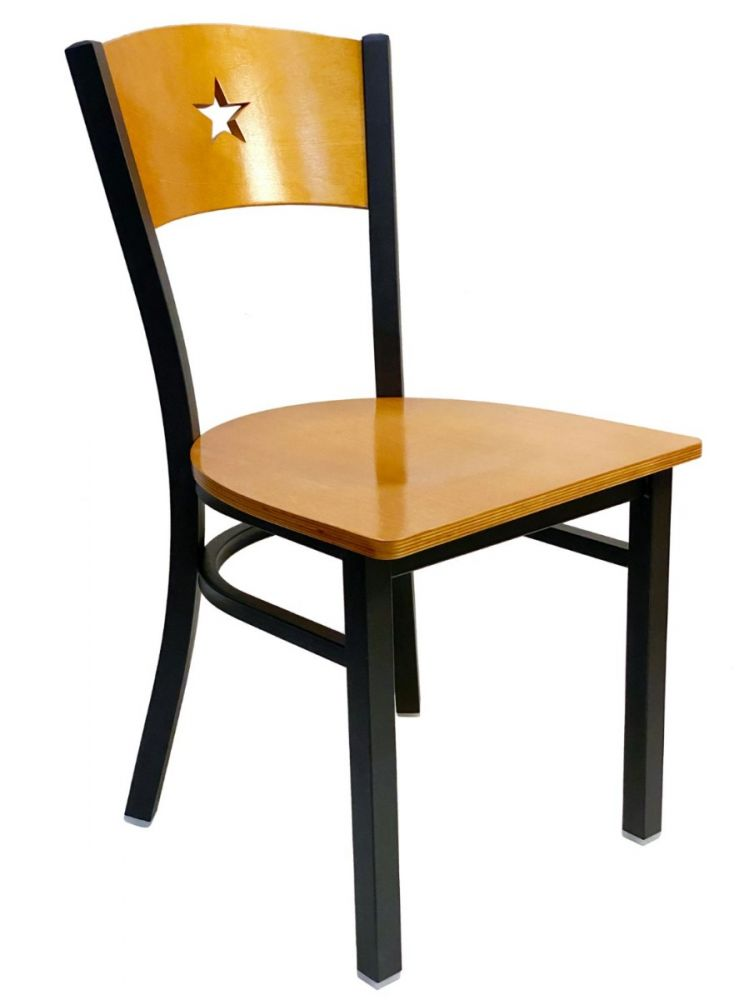 #315/STAR Star Wood Back Chair Natural with Wood Chair