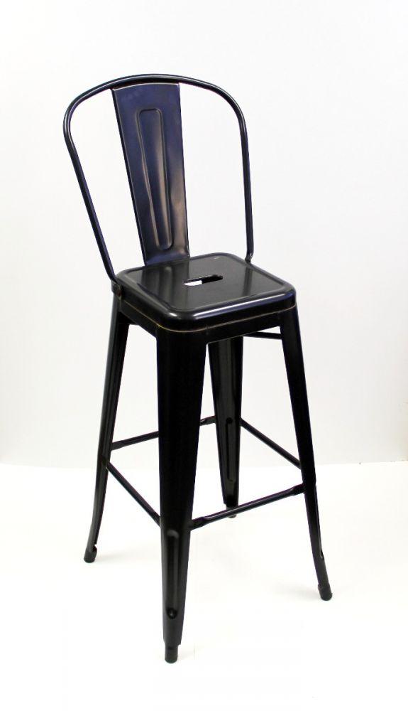 #318BS/BLK Solid Rugged Steel Bar Stool Black