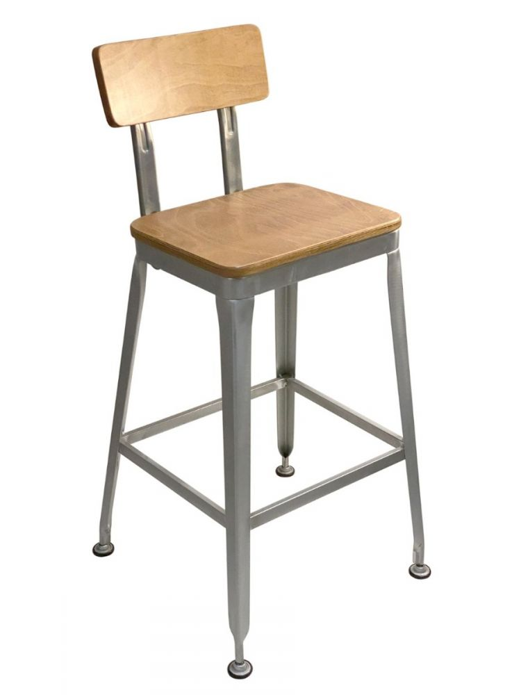 #323BS /Galvanized Metal Frame Barstool