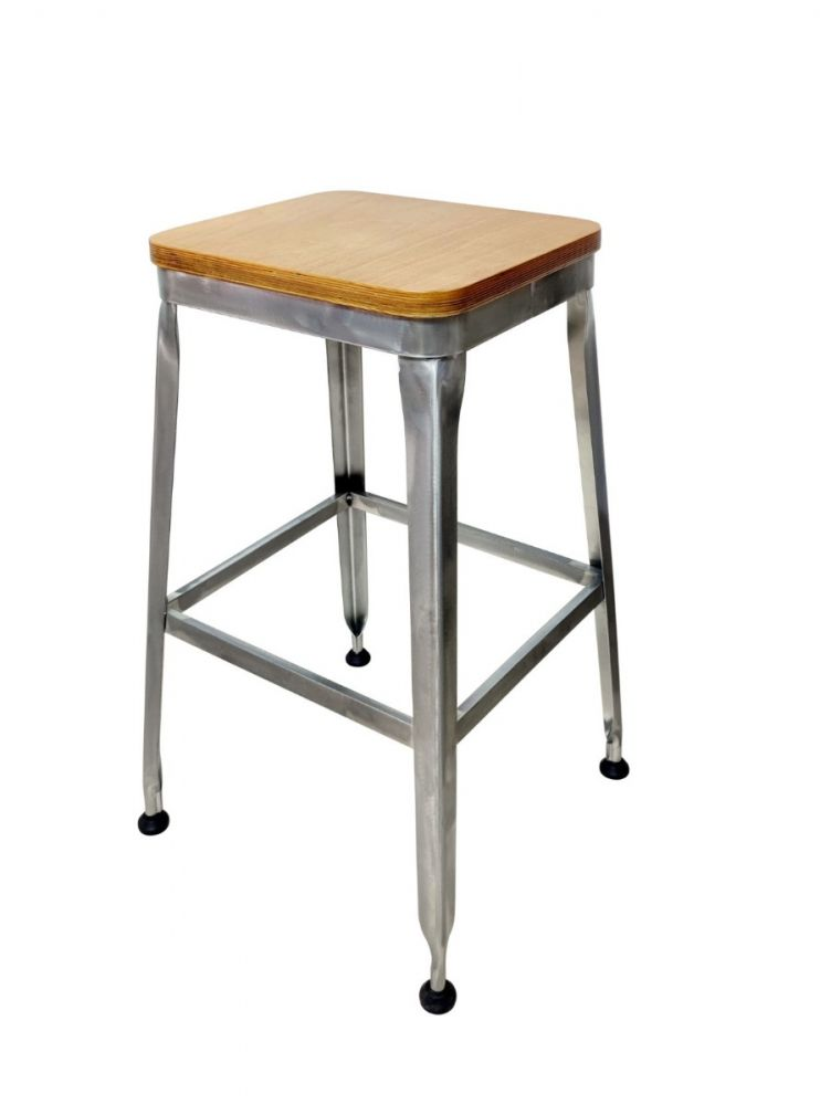 #323BS-NB/ Galvanized Metal Frame No Back Bar Stool