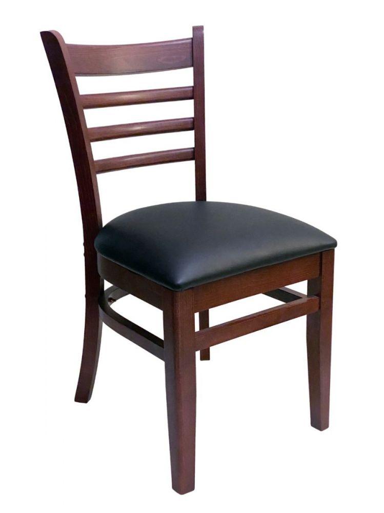 #411A/ Beech Ladder Chair Mahogany