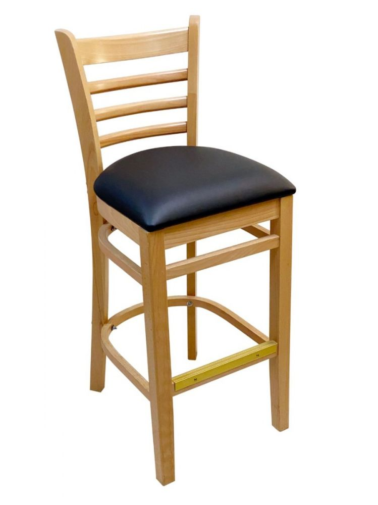 #411A-BS/ Beech Ladder Bar Stool Natural