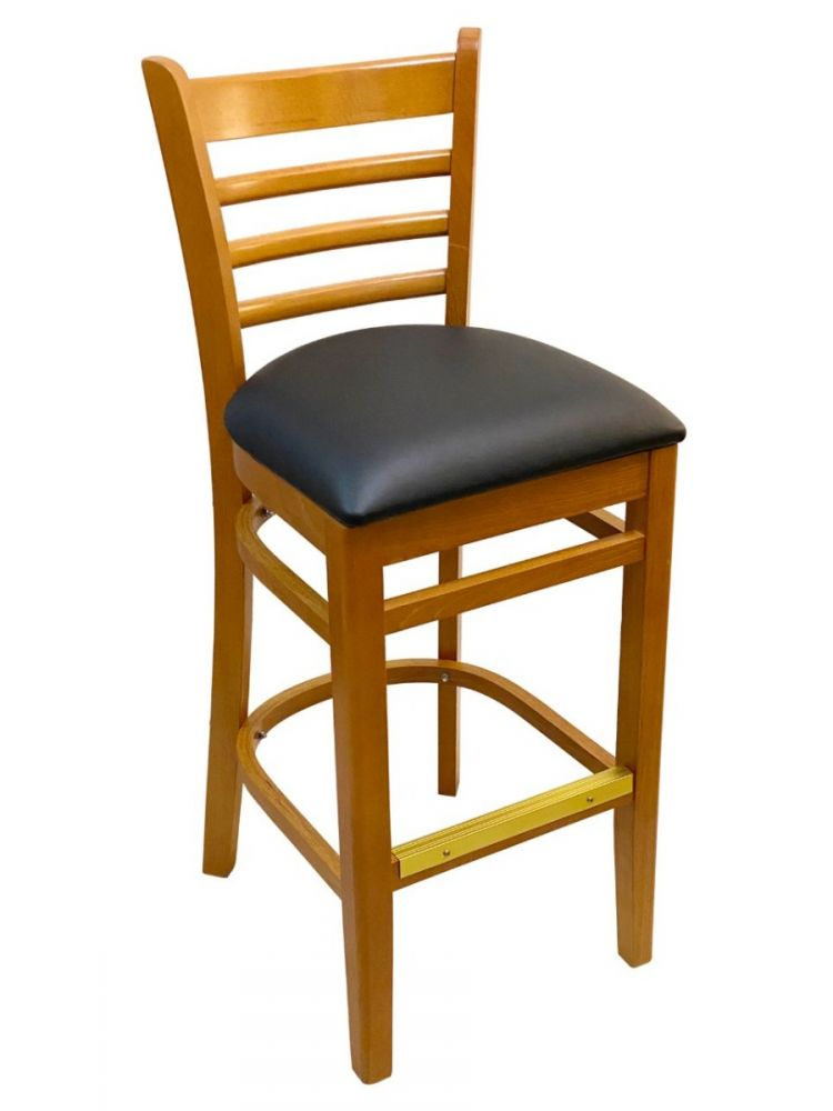 #411A-BS/ Beech Ladder Bar Stool Oak
