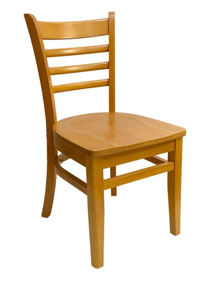 #411A/ Beech Ladder Chair Oak with Wood Seat