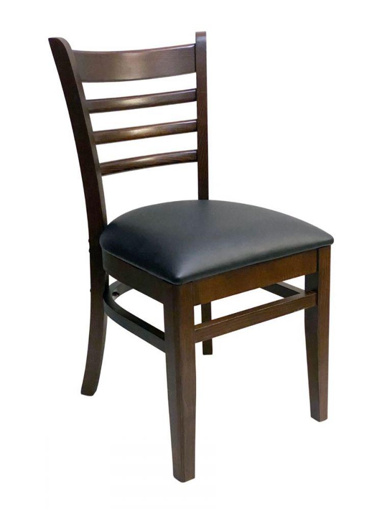 #411A/ Beech Ladder Chair Walnut