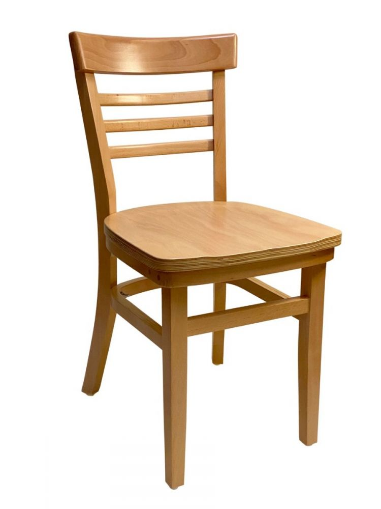 #412/ Steakhouse Chair Natural with Wood Seat
