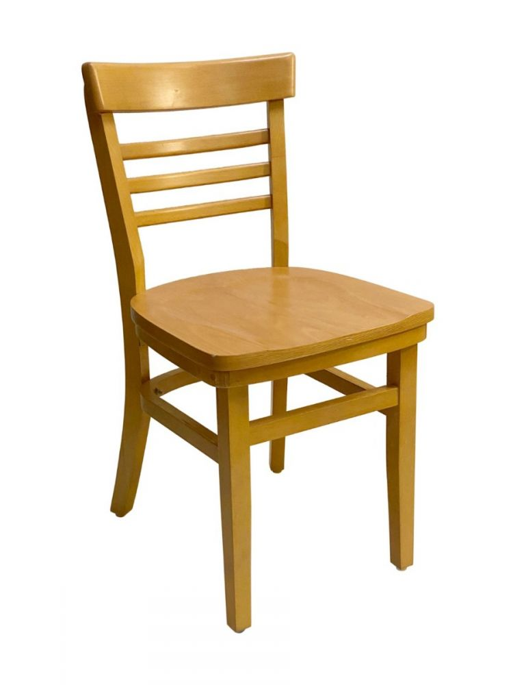 #412/ Steakhouse Chair Oak with Wood Seat