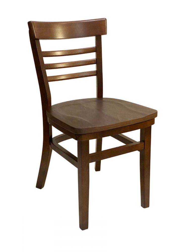 #412/ Steakhouse Chair Walnut with Wood Seat