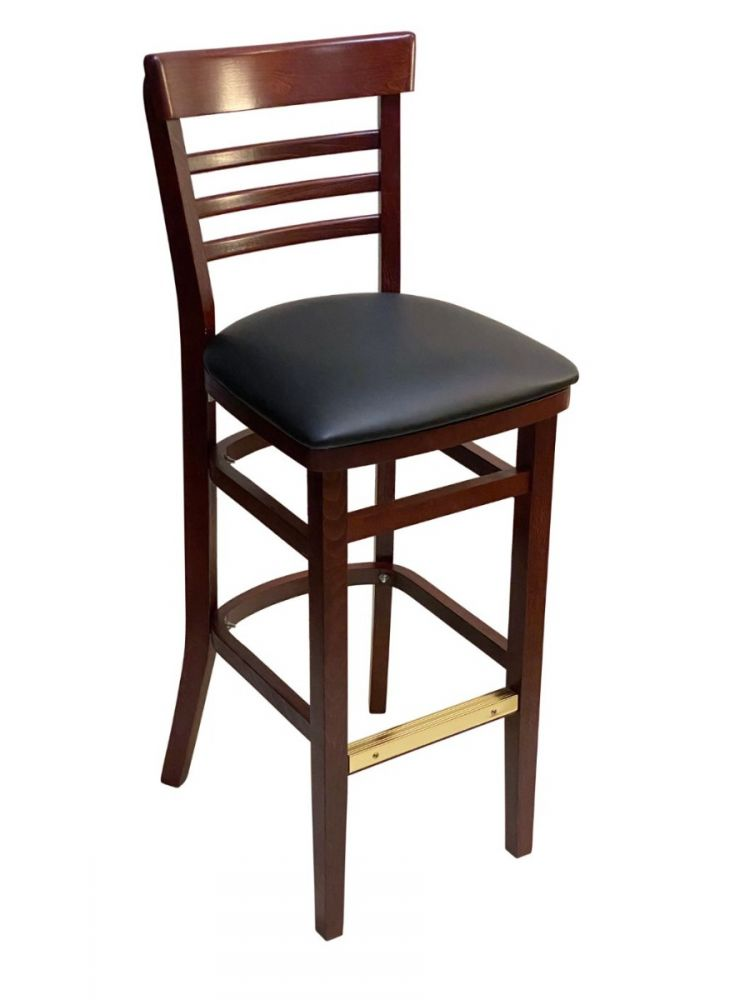#412BS/ Steakhouse Bar Stool Mahogany