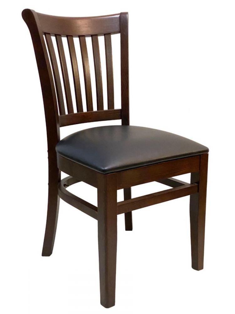 #422/ Contemporary Vertical Slat Chair Walnut