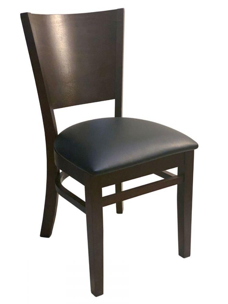 #428/ Wood Back Chair Walnut