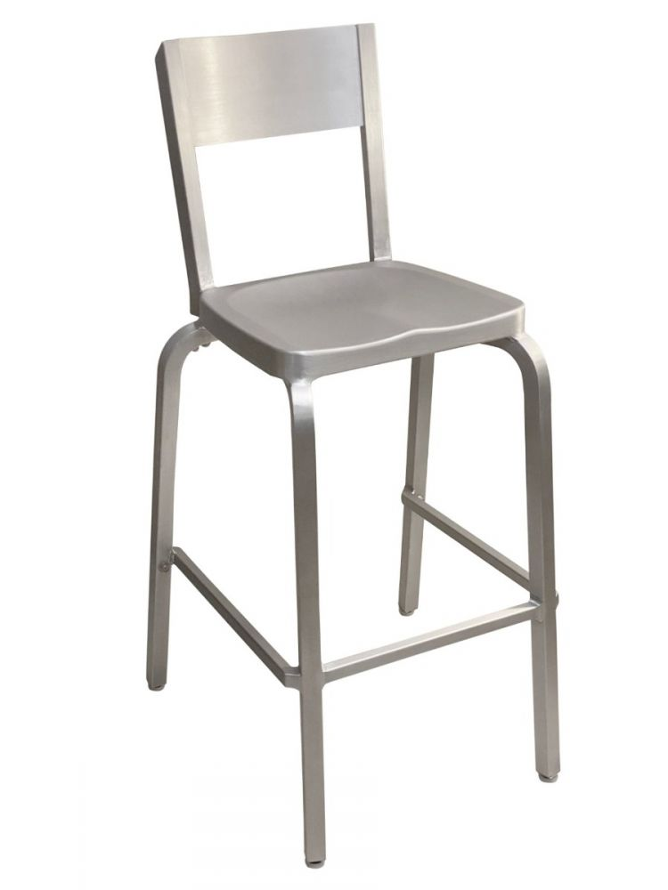#804BS/ Solid Back Bar Stool