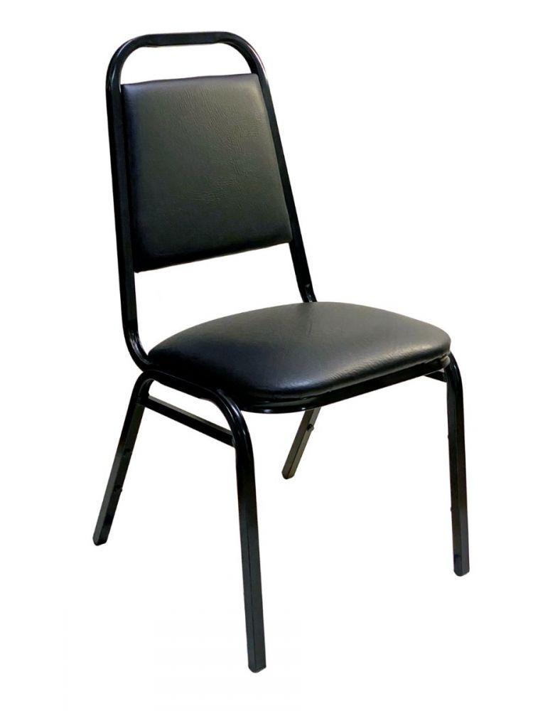 #888-11/ Stackable Chair Black