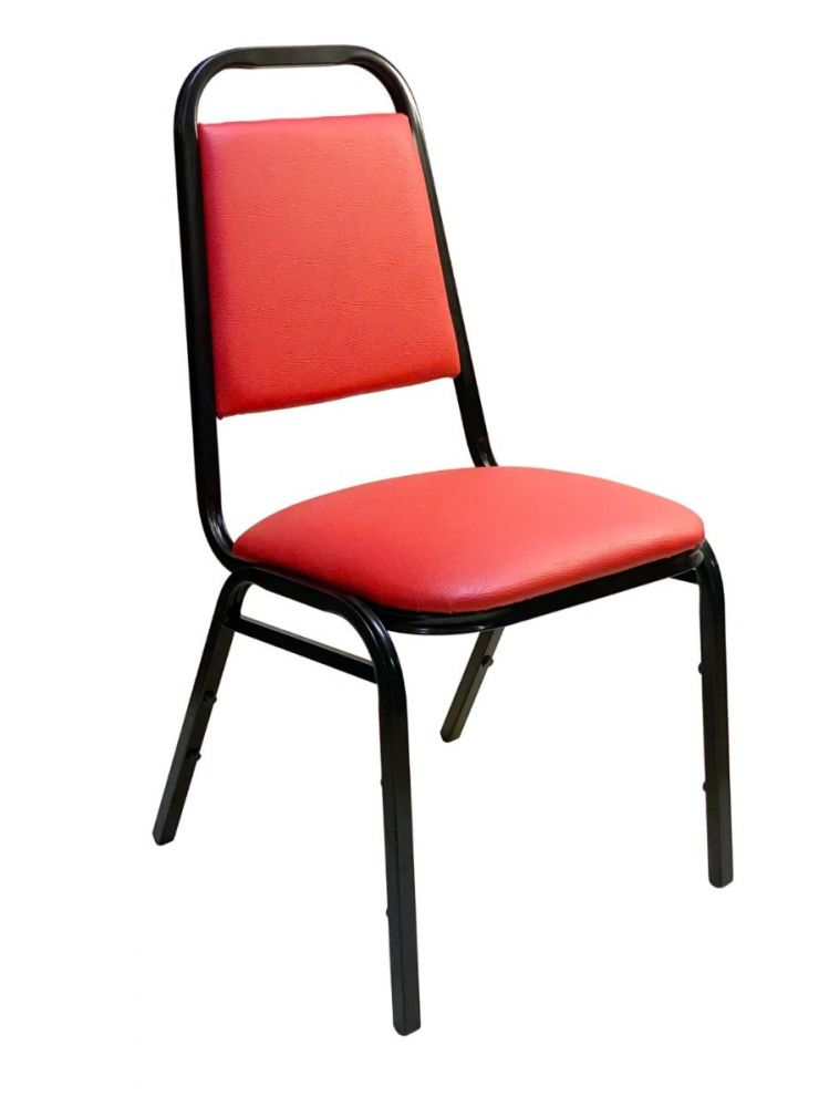 #888-11/ Stackable Chair Red