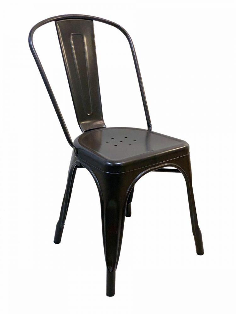 #318/ESP Solid Rugged Steel Chair Black Espresso