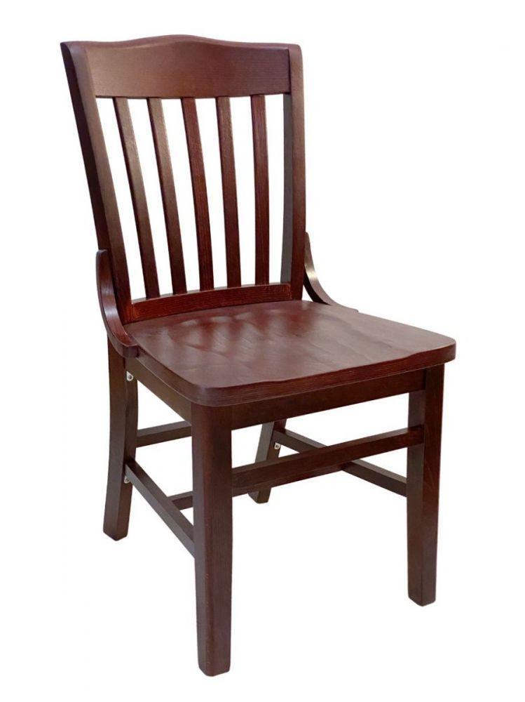 #415/ Beech School House Chair Mahogany