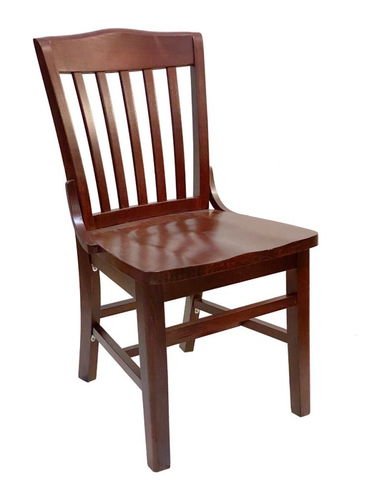 #415SW/ Beech School House Solid Wood Chair Mahogany
