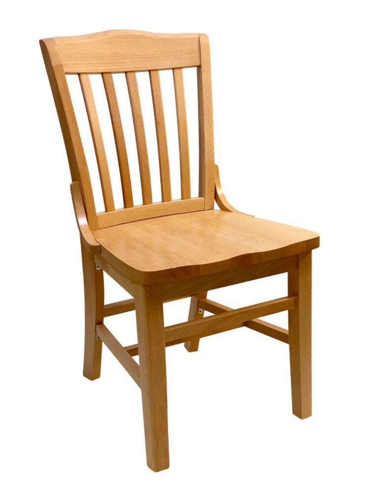 #415SW/ Beech School House Solid Wood Chair Natural