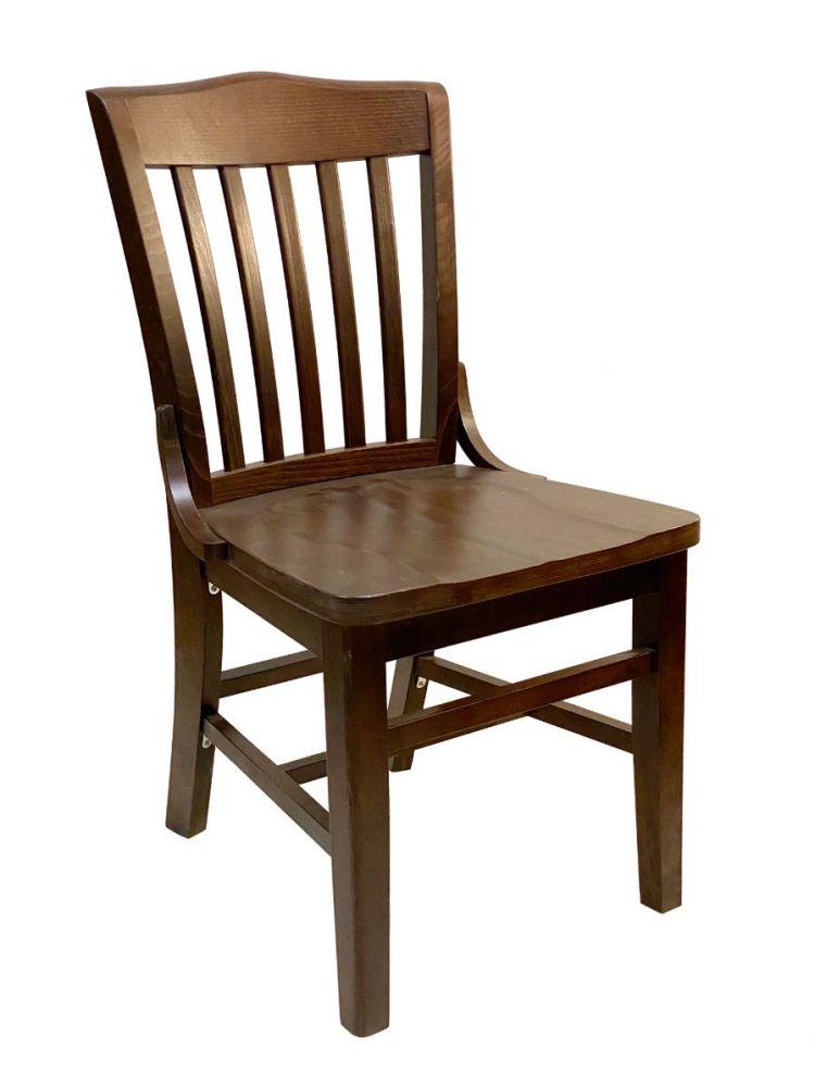 #415/ Beech School House Chair Walnut