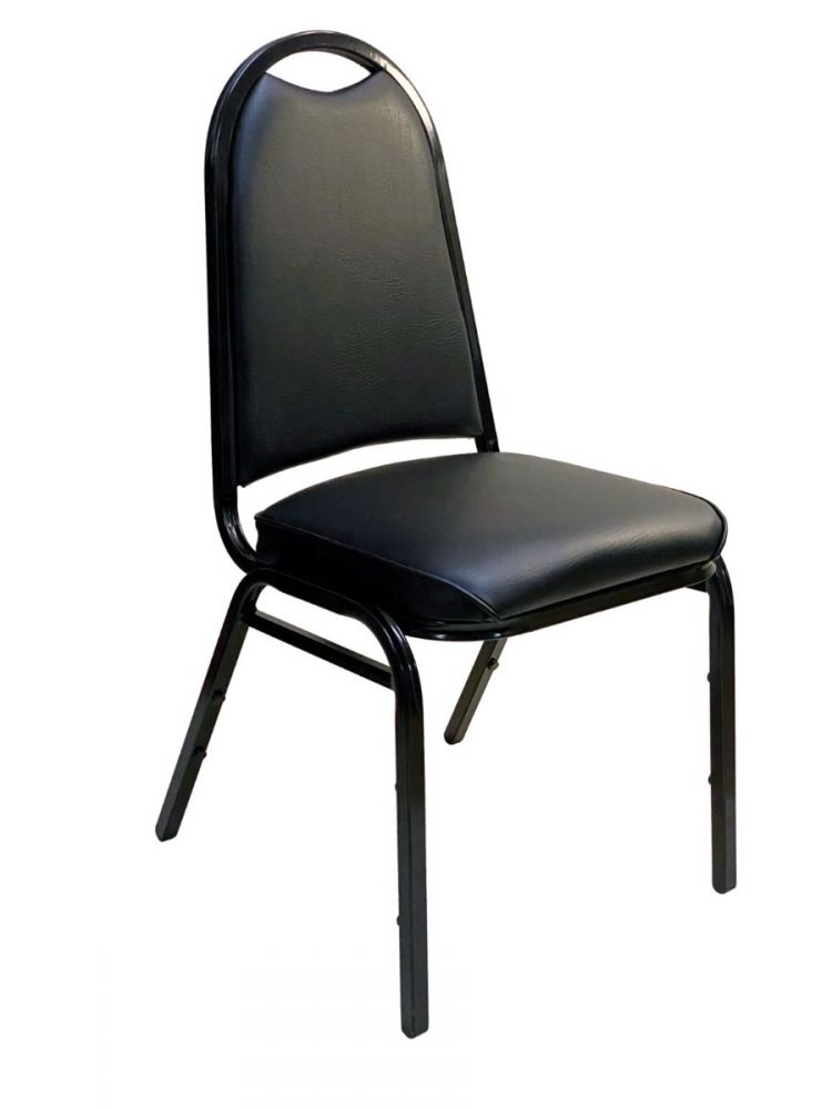 #ABC-22/ Arch Back Stackable Chair Black