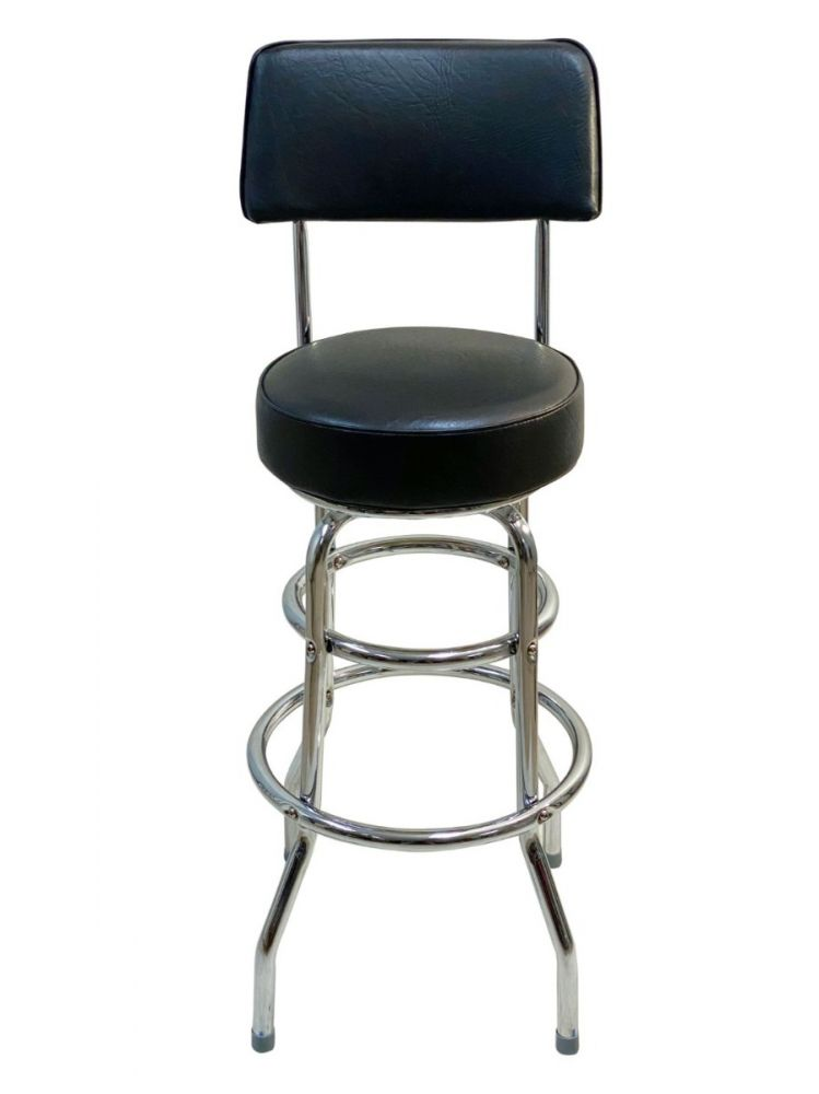 #DRB/BACK Double Ring Bar Stool with Back