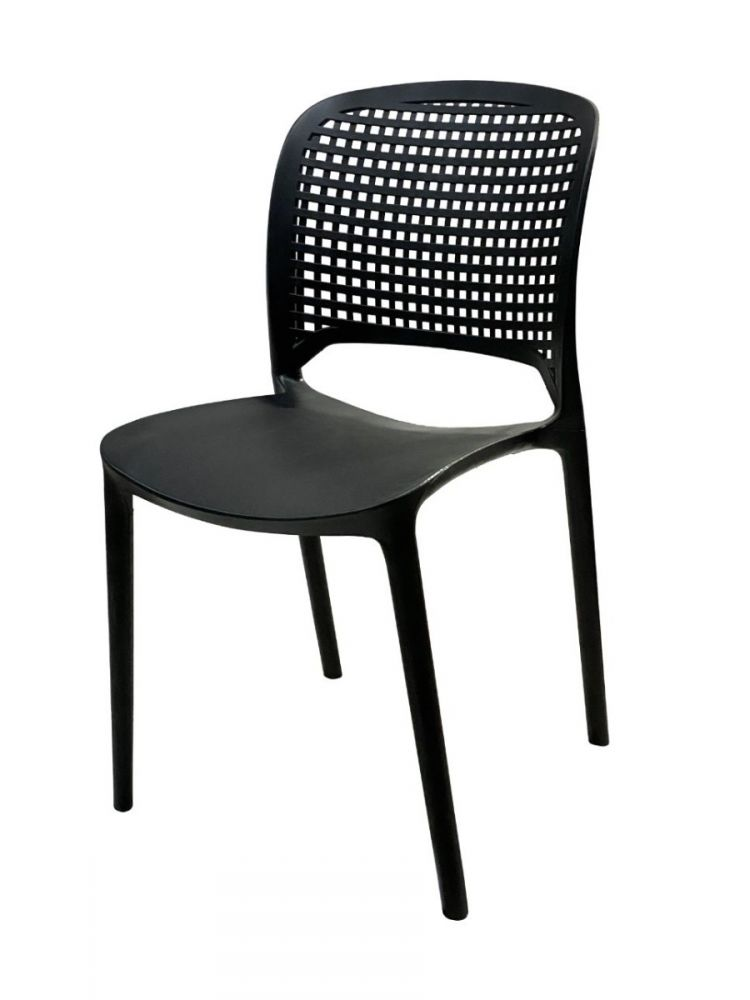 HAPPY SQR/BLK Polycarbon Fiberglass Chair