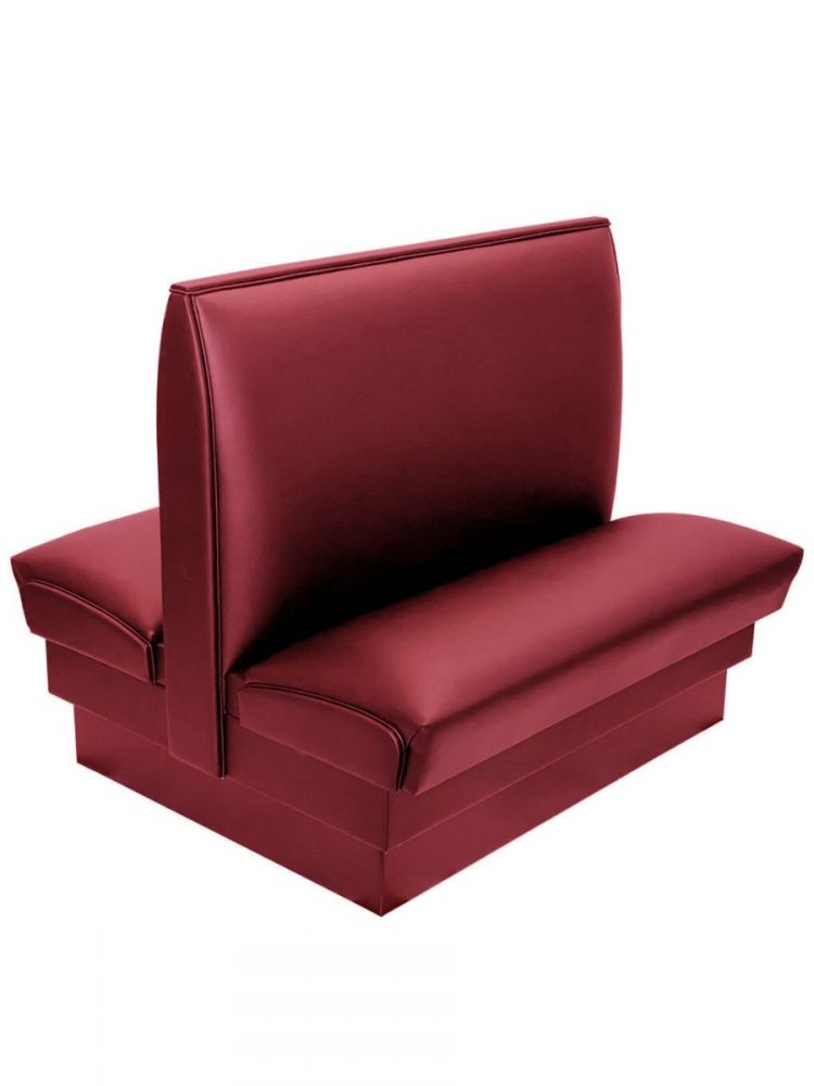 PB36D-QS/CLARET AAA CLARET 36in Plain Back Double Booth Quick Ship