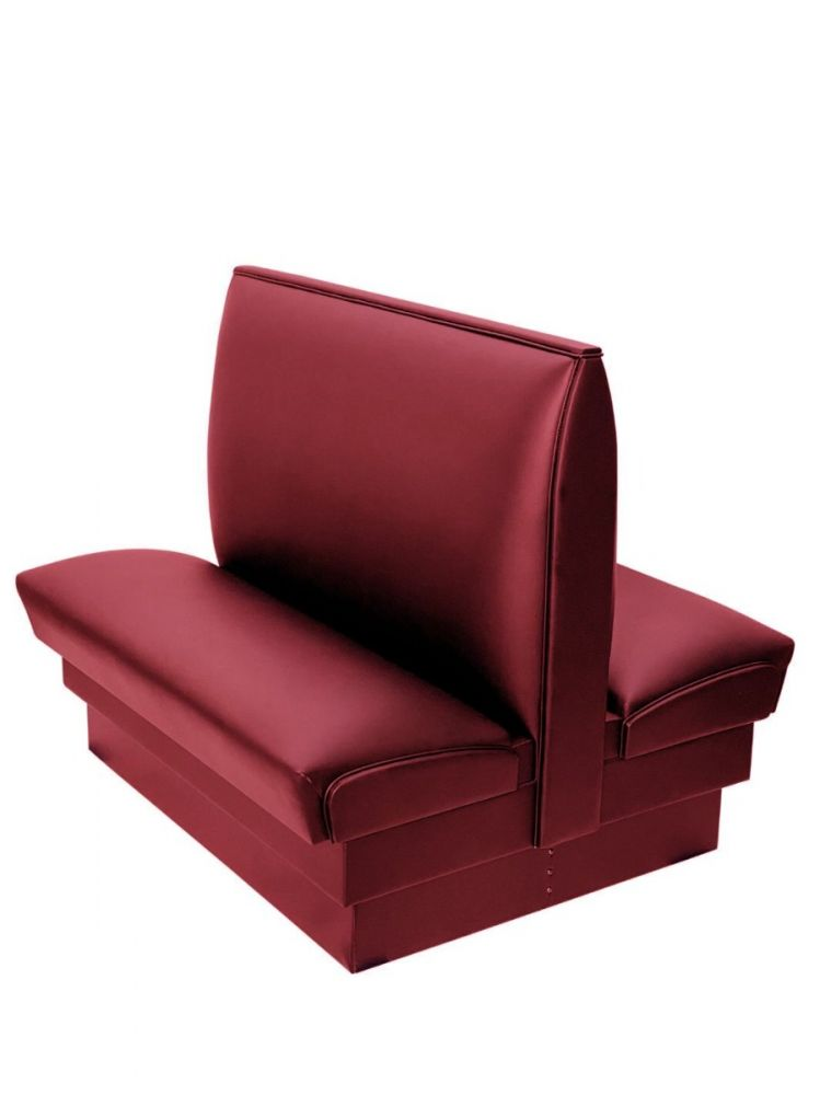 PB42D-QS/CLARET 42in Plain Back Double Booth Quick Ship