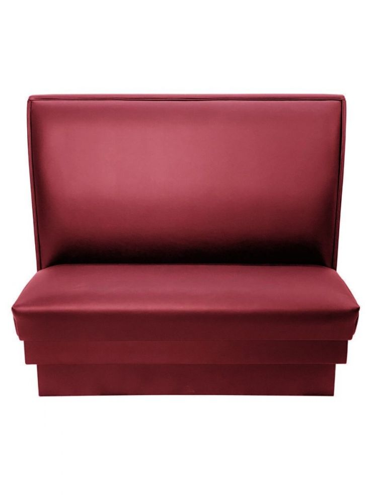 PB48S-QS/CLARET 48in Plain Back Single Booth Quick Ship