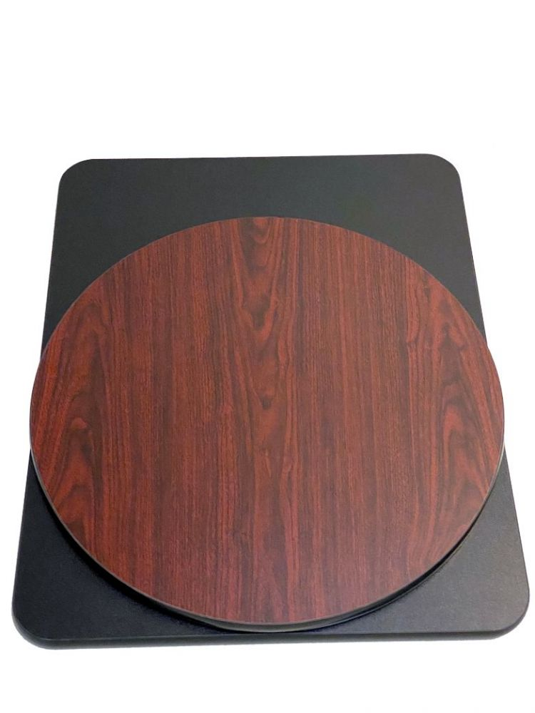 MBT2424/ Reversible Mahogany-Black Table Top 24in X 24in Square