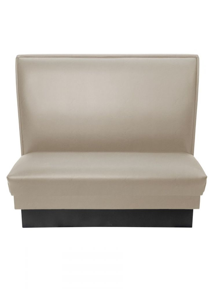 PB42S-QS/TAUPE MT24 TAUPE 42in Plain Back Single Booth Quick Ship