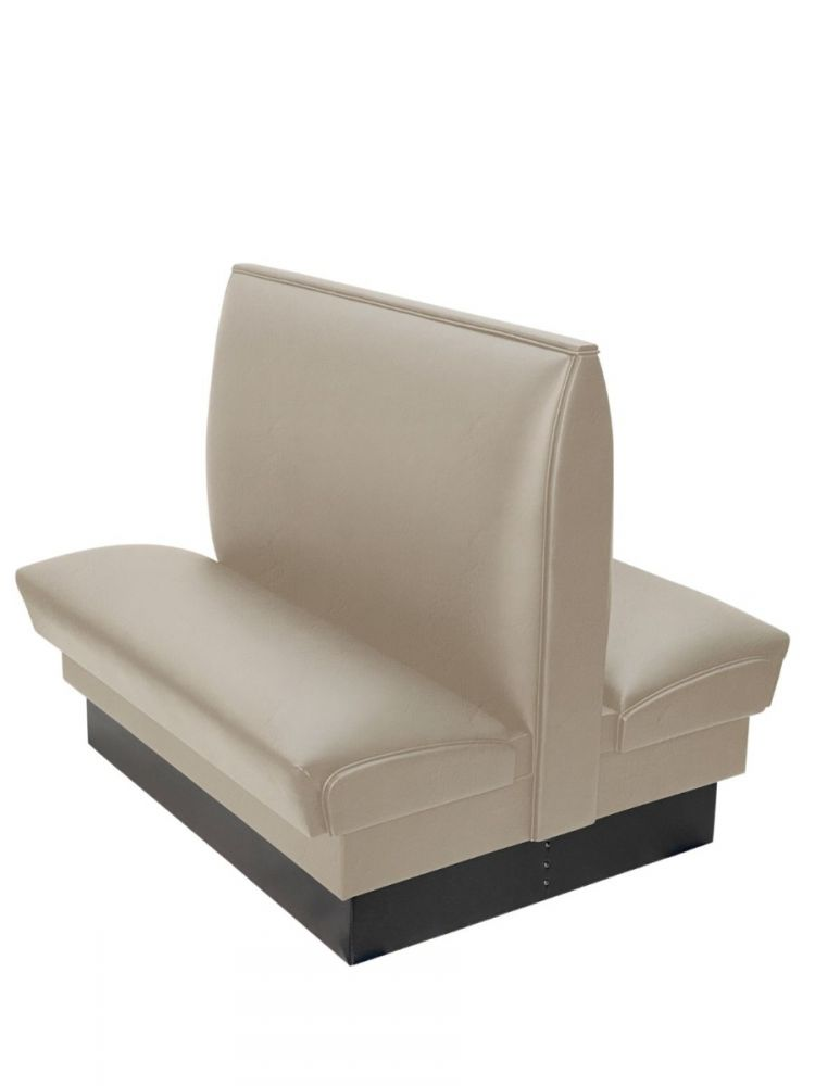 PB42D-QS/TAUPE MT24 TAUPE 42in Plain Back Double Booth Quick Ship