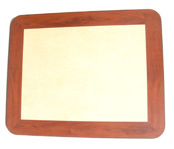 NCT3042/ Natural/Cherry Dual Color Laminate Top 30in X 42in Rectangle