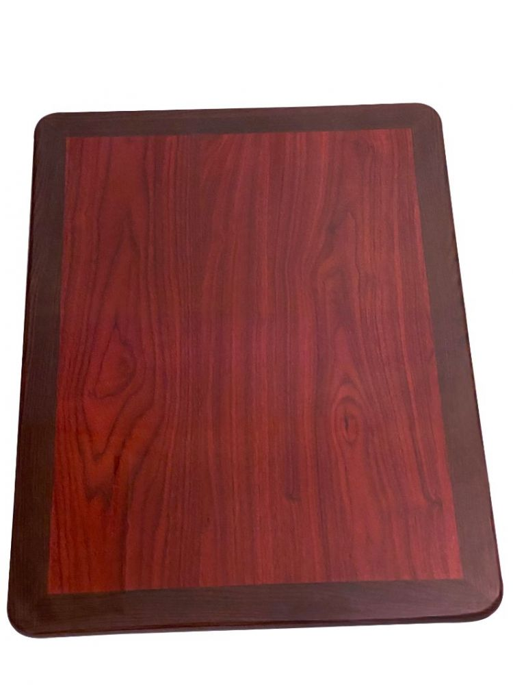 RMWT2430/ Resin Top With Dual Colors Mahogany/Walnut 24in X 30in Rectangle