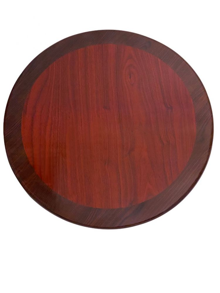 RMWT24R/ Resin Top With Dual Colors Mahogany/Walnut 24in Round