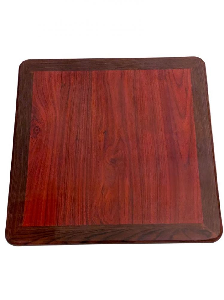 RMWT2424/ Resin Top With Dual Colors Mahogany/Walnut 24in X 24in Square