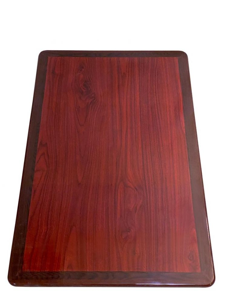 RMWT3042/ Resin Top With Dual Colors Mahogany/Walnut 30in X 42in Rectangle