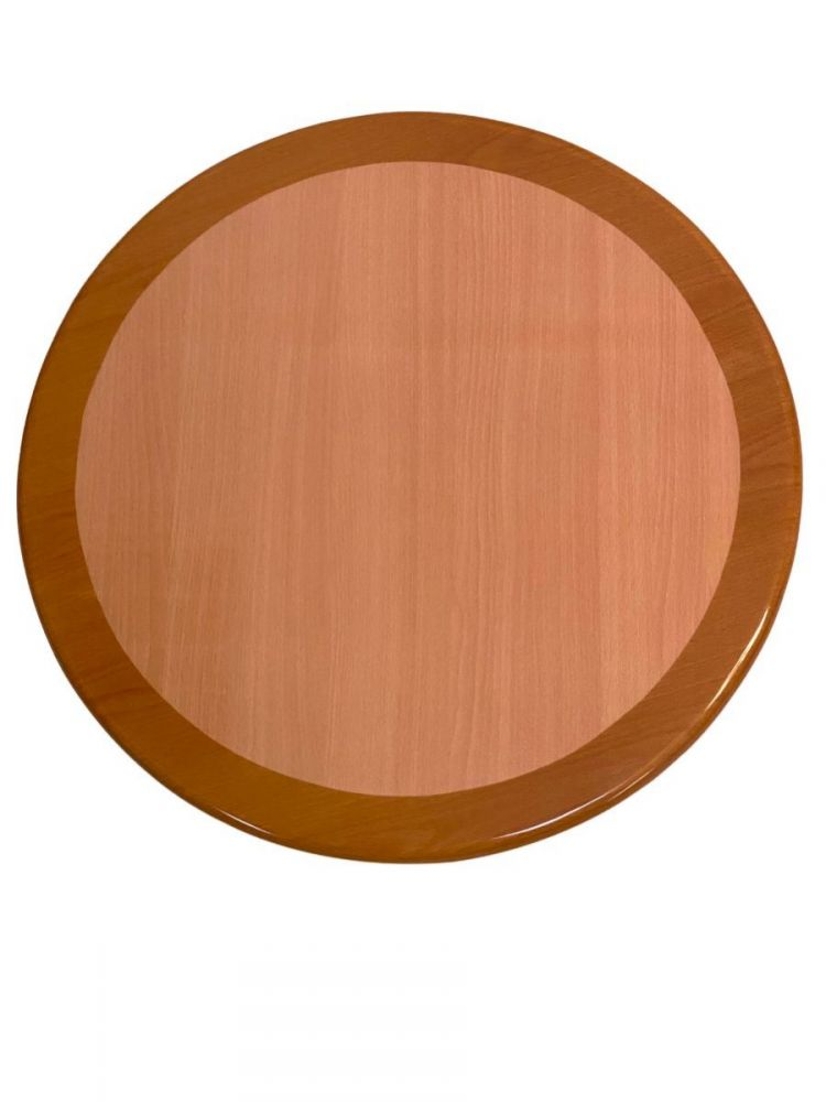 RNOT24R/ Resin Top w/ Dual Colors Natural/Oak 24in Round