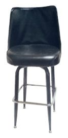 #104/BUCKET Square Frame Bar Stool with Bucket Seat