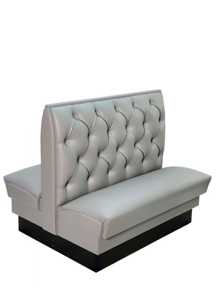 TB42D/ 42in Tufted/Diamond Back Double Booth
