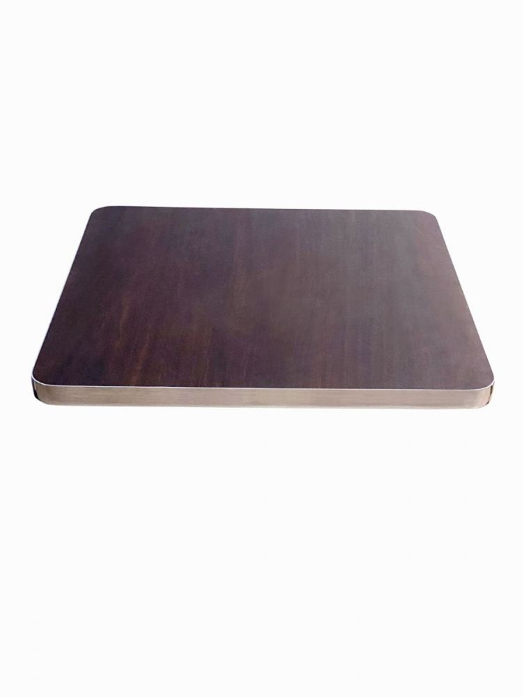 TT/ CHR Chrome T Molding Laminated Wood Top