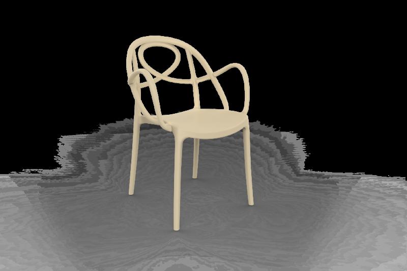 TWISTER/SAND Polycarbon Fiberglass Chair