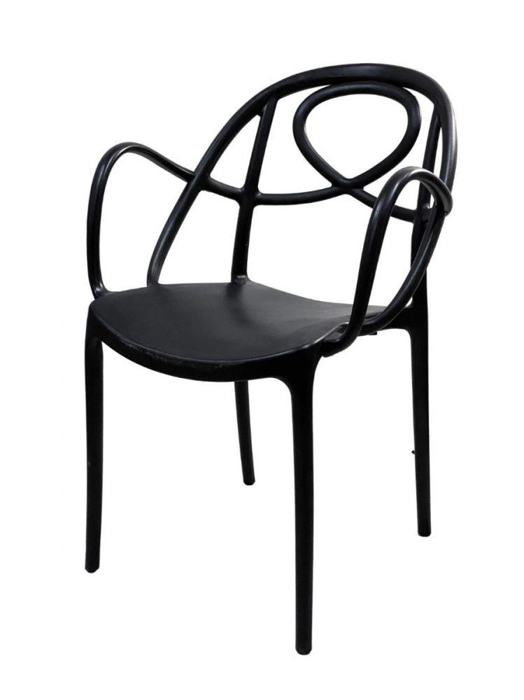 TWISTER/BLK Polycarbon Fiberglass Chair