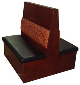 WC48D/ 48in Wood Frame with Cushion Back Double Booth