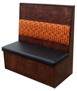 WC48S/ 48in Wood Frame with Cushion Back Single Booth