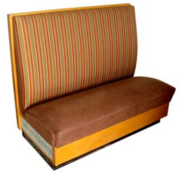 WFC36S/ 36in Wood Frame with Full Cushion Back Single Booth