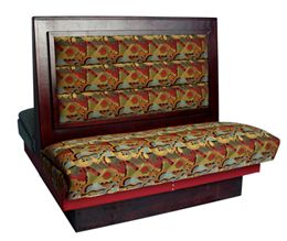 PC36D/ 36in Picture Frame with Cushion Back Double Booth