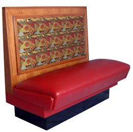 PC48S/ 48in Picture Frame with Cushion Back Single Booth